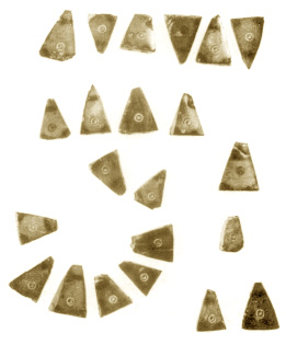 triangular flat amber pendants
