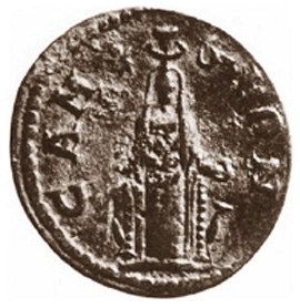 Hera coin with high polos crown with horns