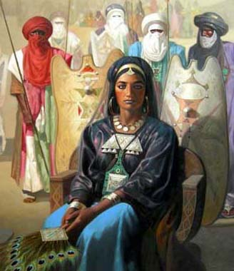 Ti-n-Hinan, ancestral founder of the Imushagh/Tuareg people of the Hoggar