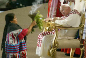 Mexicana curandera smudging the pope: gifts and blessings from sources as yet unrecognized